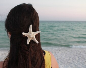 Mermaid Collection** White Starfish Hair Piece