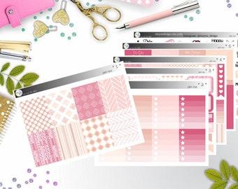 weekly kit - pink love (Erin Condren and Happy Planner Stickers)