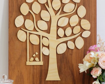 Wedding Guest Book, Alternative Wood Wedding tree, Rustic Wedding Tree, Guest's Signatures, Signature Wedding tree, Guest Book tree