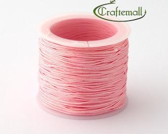 Pink nylon cord - 1mm nylon cord - 1 roll (35meters) NS018-9