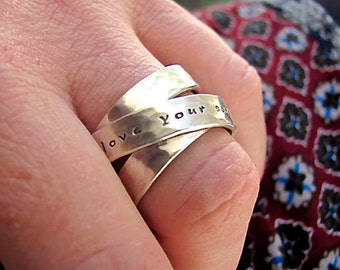 Personalized Eternity Ring - Personalized Infinity Ring - Infinity Ring - Eternity Ring - Inscribed Eternity - Inscribed Infinity