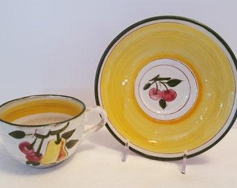 Stangl Della-Ware Festival Cup and Saucer #3677