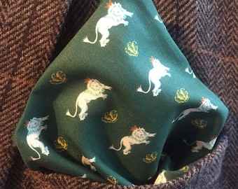 Racing Green Pocket Square, Liberty Squares, Pocket Handkerchief , Hipster accessories