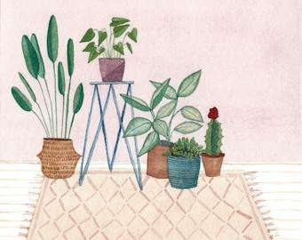 House Plants - Illustration by Taylor Ann - Art Print