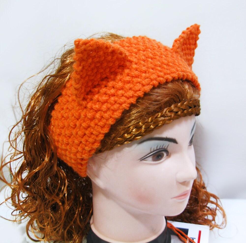 Fox headband ear warmer knitting pattern cat ears headband zoom bankloansurffo Gallery