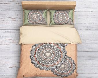 Mandala Bedding, Boho Duvet Cover, Hippie Bedding, Boho Bedding, Ethno Bedding Set,Mandala Duvet cover,Indie Bedding,Boho Style,Boho Decor