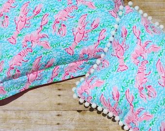 Custom Made Lilly Pulitzer Pillow STANDARD Sham