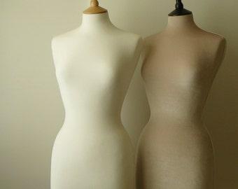 Wedding Dress Display Shop Mannequin Plush Velvet Ivory Dressform