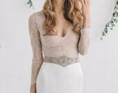 Champagne Wedding Sash Bridal Belt Nude Wedding Dress Belt Wedding Belts Sashes Bridal Dress Sash Opal Swarovski Crystal Sash