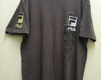 Mega Sale! Vintage FILA Shirt Big Logo Spell Out Object Of This Game Made In USA Sz L