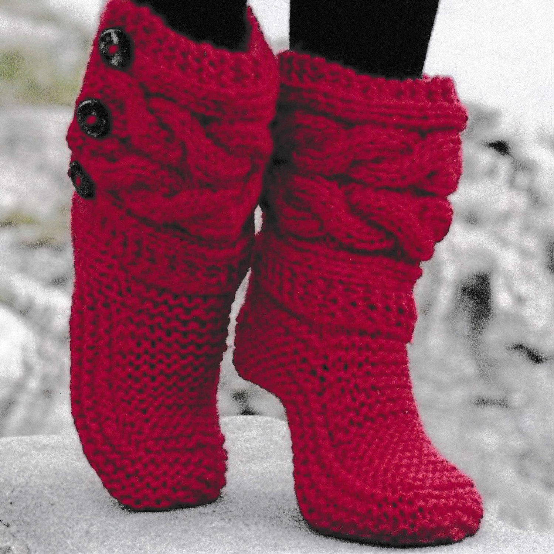 PDF Vintage Bed Socks Knitting Pattern – Vintage, Retro, Bed Socks ...