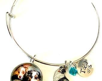 I love my dog custom photo bracelet *dog charm not included*