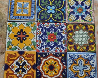 Spanish Tile Etsy - 4 inch mexican tile