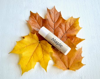 Maple Chapstick, Beeswax Lip Balm, Natural Chapstick, Maple Lip Balm, Natural Lip Balm, Coconut Oil Lip Balm, Beeswax,