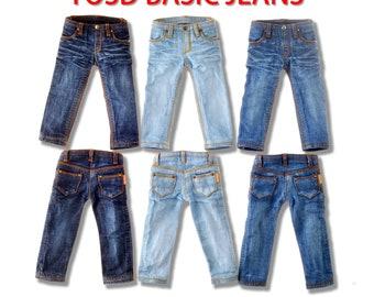 1:6 Bjd Puppe Kleidung Puppe Kleidung YOSD FL AI Basic Jeans stonewashed Jeans Jean Hose Jeans Hose Jeans gemacht von dollypie