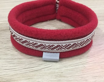 Fleece lined martingale collar for Italian Greyhound/ Whippet / Cirneco / Saluki / Martingale style dog collar