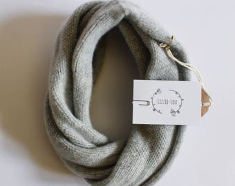 Pearl Grey Lambswool Snood