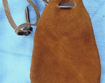 Suede Pouch All Hand Stitched
