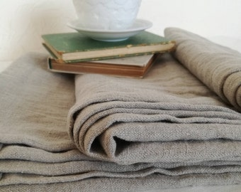 Pure Linen Blanket - Softened Linen Throw Blanket - Summer Blanket - Undyed Linen - Thick Linen Bed Cover - Beach Blanket - Bedspread - Gift