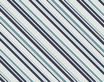 Game Day in STRIPES NAVY by Lori Whitlock for Riley Blake - 1/2 Yard