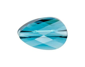 Indicolite Swarovski mini drop beads size 12x8mm quantity of 2