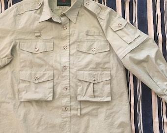 Vintage 1980s Abercrombie & Fitch Safari Jacket Mens Size XL