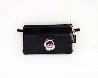 Himalayan Cat 2 Compartment Pouch