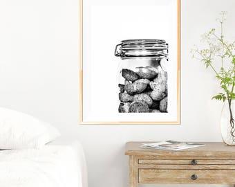 Biscotti Minimalist Print - Black and White - Kitchen Wall Art - Kitchen Decor - Kitchen Art - Fine Art Photography - Neutral Wall Decor