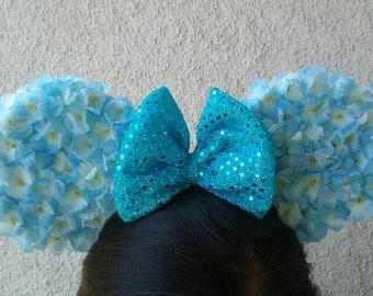 Floral Mouse Ears Headband (ON SALE)