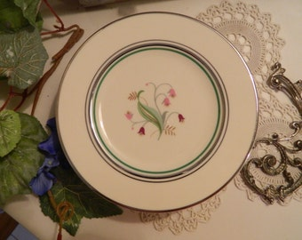 """Set of 7 Vintage Syracuse China Coralbel 6"""" Bread and Butter or Dessert Plates"""