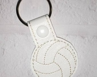 Volleyball Key Chain - Sports Key Chain - Key Chain - Team Gift - Basketball Bag Tag - Soccer Bag Tag - Sports Gift-MVP