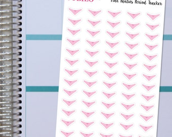Pink Panties Period Tracker Stickers