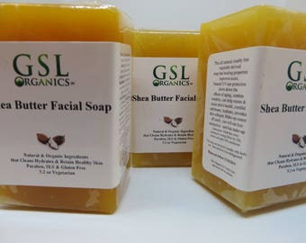 Shea Butter Facial Soap - Anti Aging and Rosacea