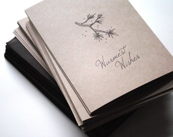 warmest wishes eco-friendly holiday card-set of 8