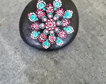 Hand-painted mandala rock set #36
