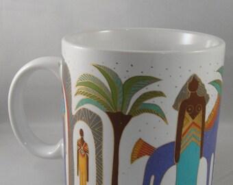 Laurel Burch Morning at the Oasis Ceramic Mug - Used