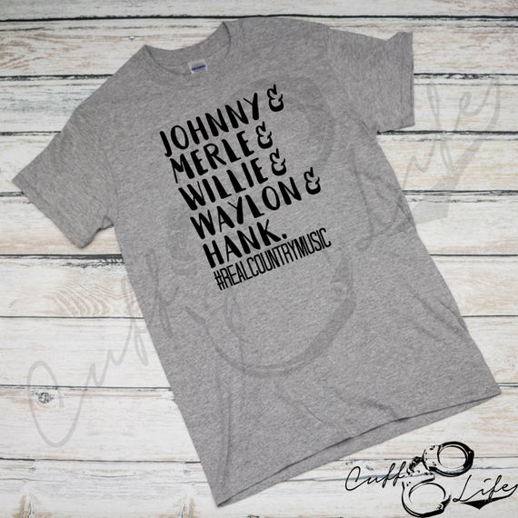 Johnny Merle Willie Waylon Hank #RealCountryMusic Boyfriend Fit Tee / Country Music Tee / Country Shirt / Southern Shirt / Comfy / V-Neck jt4BHzI