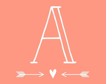 Monogram Wall Decal | Wedding Cornhole Decal | Nursery Monogram