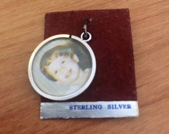 Vintage Sterling Photo Pendant