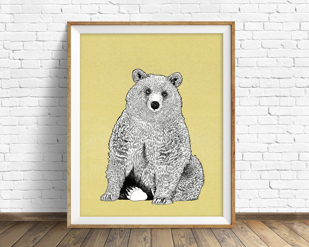 Beautiful Bear Wall Art Inspiration - Art & Wall Decor - hecatalog.info