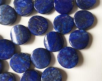 Lapis Wavy Round 18mm Stones