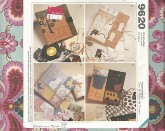 McCalls 9620 Crafts Memory Album/Scrapbook  Pattern  Complete & Uncut