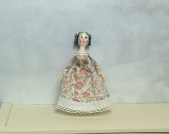 Mini Doll Peg 1:12 scale. 32-35 mm high approximate.