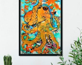 FL Keys Octopus 11x17