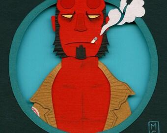 Original Collage: Hellboy