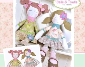 Bella & Trudie Rag Doll Pattern