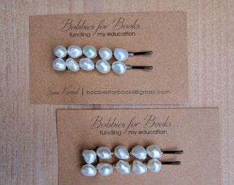 Medium Pearl Beaded Bobby Pin Set