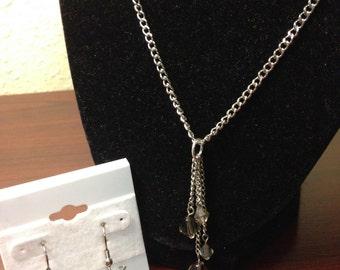 Geometric Elegance earrings necklace set OOAK