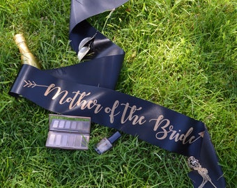 Mother of the Bride Sash - Bride Tribe Hen Party Range - Other Matching Sashes Available