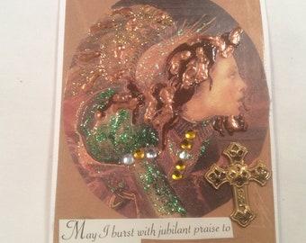 """ACEO Tiny Mini Art Card Magnet - """"Jubilant Praise"""""""
